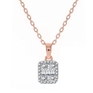 Image for 0.20CT VS/EF Cluster Baguette Diamond Designer Pendant