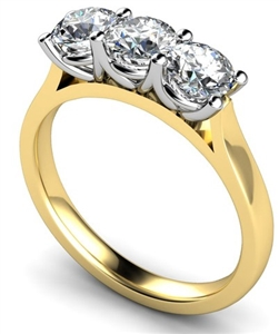 Image for Traditional Round Diamond Trilogy Ring