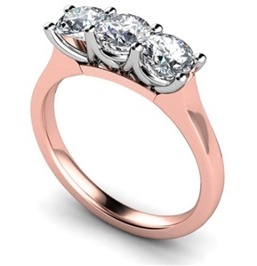 Image for Modern Round Diamond Trilogy Ring