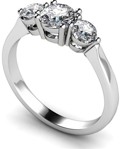 Image for Classic Round Diamond Trilogy Ring
