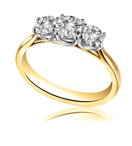 18ct Yellow Gold Trilogy Engagement Rings