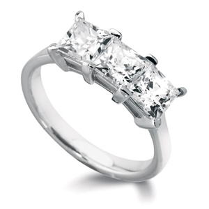 Image for Simple Princess Diamond Trilogy Ring