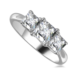 Image for Classic Princess Diamond Trilogy Ring