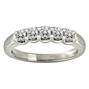 Image for 0.50CT VS/EF Elegant Round Diamond Eternity Ring
