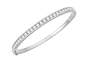 Image for 2.00CT VS/EF Elegant Round Diamond Set Bangle