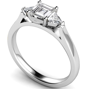 Image for Modern Asscher & Trillion Diamond Trilogy Ring