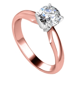 18ct Rose Gold Solitaire Diamond Rings