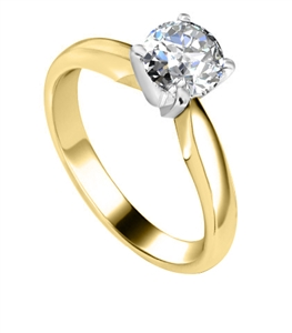18ct Yellow Gold Solitaire Diamond Rings