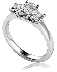 Image for Classic Oval & Princess Diamond Trilogy Ring