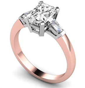 18ct Rose Gold Radiant Cut Engagement Rings
