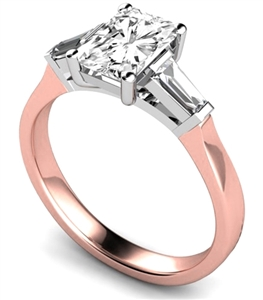 Image for Modern Radiant & Baguette Diamond Trilogy Ring