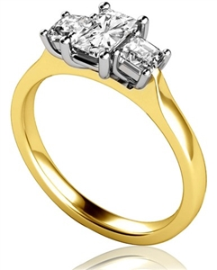 Image for Modern Radiant & Princess Diamond Trilogy Ring
