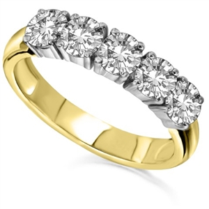 18ct Yellow Gold Half Prong Eternity Rings