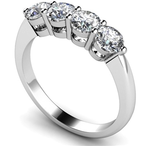Image for Four Stone Round Diamond Half Eternity Ring