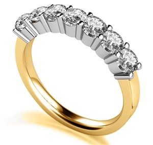 18ct Yellow Gold 7 Stone Diamond Rings