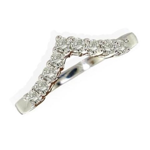 Image for Classic Round Diamond Wishbone Eternity Ring