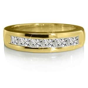 Image for 7 Stone Princess Diamond Half Eternity Ring