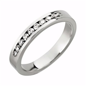 Image for 3mm Diamond Half Eternity/Wedding Ring