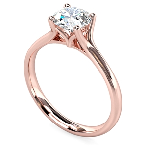 18ct Rose Gold Round Diamond Engagement Rings