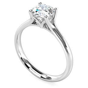 18ct White Gold Solitaire Engagement Rings