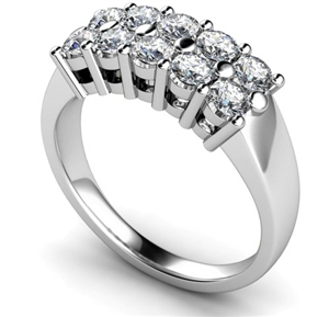 Image for Ten Stone Round Diamond Half Eternity Ring
