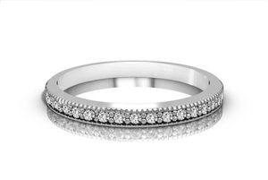 Image for Classic Round Diamond Half Eternity Ring