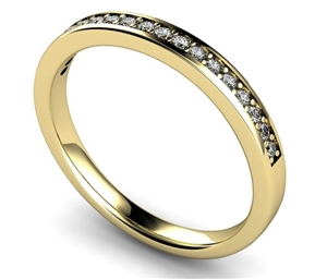 18ct Yellow Gold Half Pave Eternity Ringsv