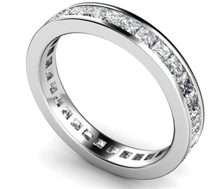 18ct White Gold Full Channel Eternity Rings