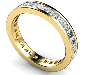 18ct Yellow Gold Full Channel Eternity Rings