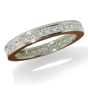 Image for Channel Set Princess Eternity Diamond Ring