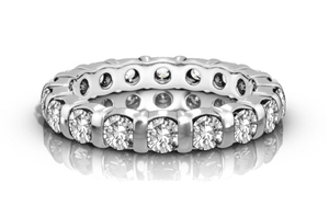 Palladium Full Prong Eternity Rings