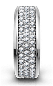 Image for Three Row Round Diamond Full Eternity Ring