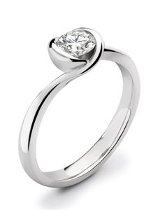 18ct White Gold Round Diamond Solitaire Engagement Rings
