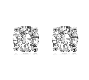 Image for Ribbon Round Diamond Stud Earrings