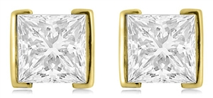 Image for Eclipse Princess Cut Diamond Earrings