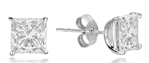 Image for Classic Princess Diamond Stud Earrings