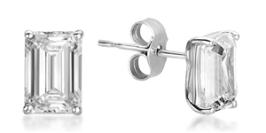 Buy Emerald Cut Diamond Studs