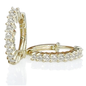 Image for Round Diamond Hoop Earrings