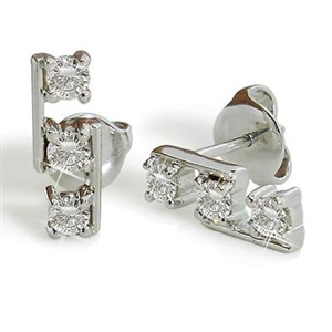 Image for Round Diamond Drop Earrings