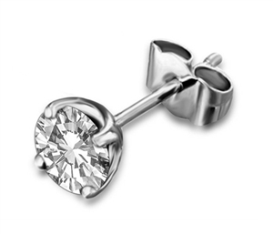 Buy 18ct White Gold Mens Diamond Studs