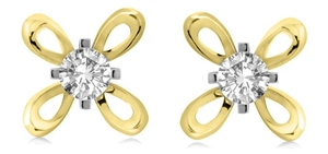Image for Round Flower Diamond Designer Earrings