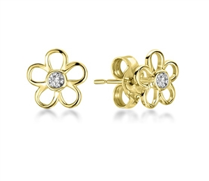 Image for Flower Shaped Round Diamond Set Earrings