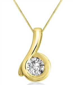 18ct Yellow Gold Designer Diamond Pendants
