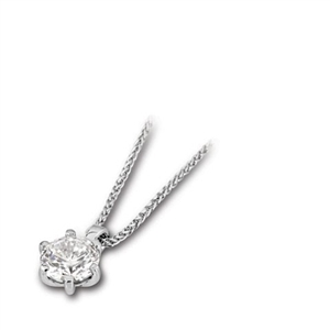 Image for Classic Round Diamond Pendant