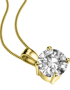 18ct Yellow Gold Diamond Pendants
