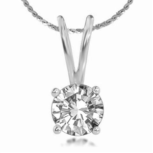 Image for Classic 4 Claw Round Diamond Pendant