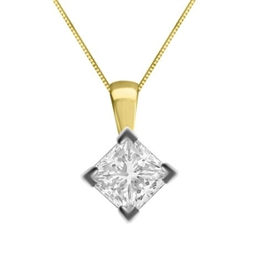 Image for Unique Princess Diamond Solitaire Pendant