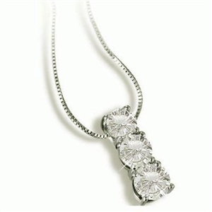 Image for Graduated Round Diamond Trilogy Pendant