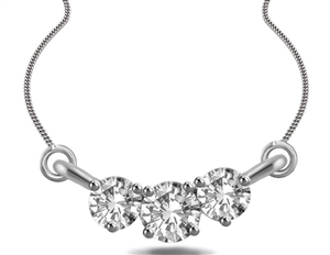 Buy Platinum Multi Stone Diamond Necklaces