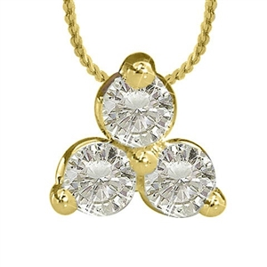 Image for Modern Round Diamond Trilogy Pendant
